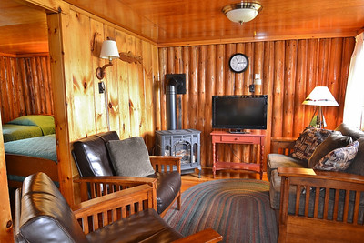Cozy lakefront cabin at Tall Timber Lodge on Back Lake in Pittsburg, NH.