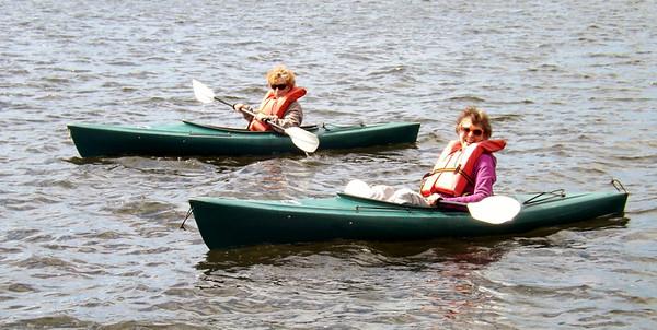 Kayaking Back Lake at Tall Timber Lodge