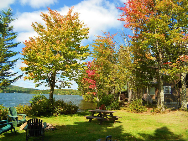 Fall foliage at Tall Timber Lodge, Pittsburg, NH 2012