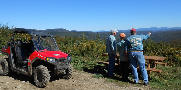 Beautiful views on the ATV trails in northern NH.