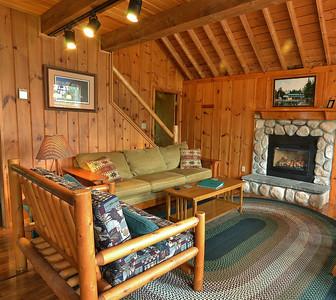 Rental cabin at Tall Timber Lodge, Pittsburg, NH.