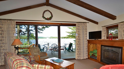 Mallard Rock, lakefront cabin at Tall Timber in Pittsburg, NH.