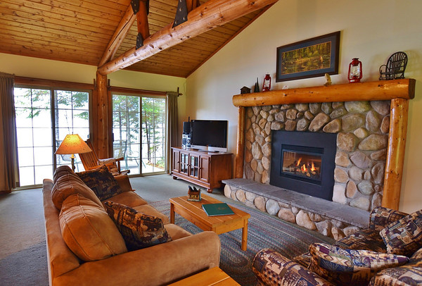 Angler's Cove, luxury lakefront cottage at Tall Timber Lodge in Pittsburg, NH.
